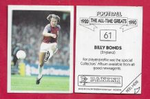 West Ham United Billy Bonds 61